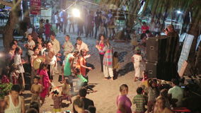 KOH RONG,CAMBODIA - MARCH 2014: local people celebration stock footage