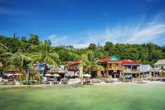 Koh rong eiland hoofddorp in Kambodja stock foto's