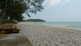 Koh rong island. Tropical and natural island koh rong in cambodia stock video footage