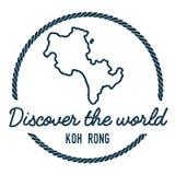Koh Rong Map Outline Le vintage découvrent le monde Photo stock
