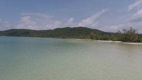 Koh rong samloen island in cambodia. Tropical island koh rong samloen in cambodia stock video footage