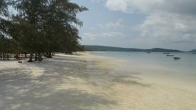 Koh rong samloen island in cambodia. Tropical island koh rong samloen in cambodia stock video