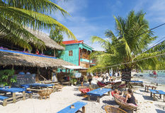 Koh rong wyspy plaży bary w Cambodia Obrazy Stock