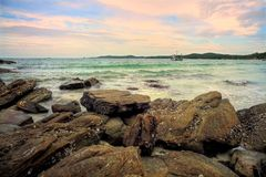 Koh Samet , Samet Island. Shoot on the rock Royalty Free Stock Photo