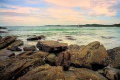 Koh Samet , Samet Island. Shoot on the rock royalty free stock photo