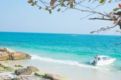 Koh samet in thailand. Happy holiday concept royalty free stock image