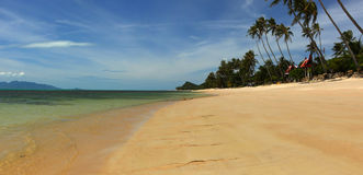 Koh Samui Beach. A view from the north coast of Koh Samui in the Gulf of Thailand stock photography