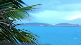Koh Samui beach in bad tropical weather. Video stock video