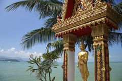 Koh samui beach buddha statue thailand Stock Photo