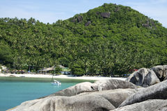 Koh samui beach yacht thailand Stock Photography