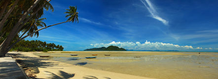 Koh Samui Coast. A panorama view of the Koh Samui south east coast with a cloudy blue sky stock images