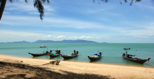 Koh Samui Coast. A view from the north coast of Koh Samui in the Gulf of Thailand stock photo