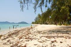 Koh Samui, gesetzter Strand Laem lizenzfreie stockfotografie