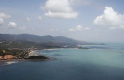 Koh Samui Island 02. The coast of Koh Samui, Thailand from the air Stock Image