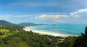 Koh Samui Island. A view from the north west coast of Koh Samui in the Gulf of Thailand stock image