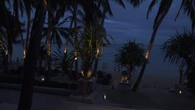 Territory of the night hotel Impiana Resort Chaweng Noi time lapse stock footage video. Koh Samui Island, Thailand - June 26, 2017: Territory of the night hotel stock footage