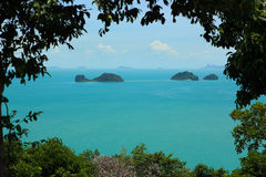 Koh Samui Island View. A view from the south west coast of Koh Samui in the Gulf of Thailand royalty free stock photography
