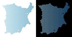 Koh Samui Map Hex-Tile Abstraction ilustração do vetor