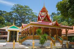 Koh Samui - red temple Stock Photography