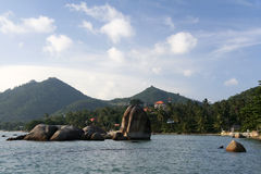 Koh samui rocky coastline thailand Royalty Free Stock Photography