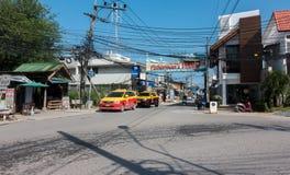 KOH SAMUI, TAILÂNDIA - 12 de dezembro de 2017: Vila do ` s do pescador A vila do ` s do pescador em Bophut é uma das atrações as  Imagens de Stock
