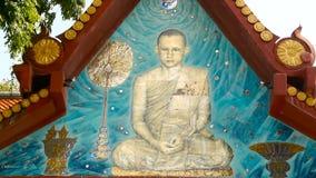Koh Samui, Tailandia - 13 de julio de 2018: Wat Khunaram Templo budista Retrato de su rey Bhumibol Adulyadej de la majestad