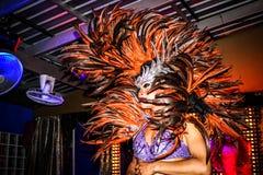 KOH SAMUI, TAJLANDIA 2013, 2 KWIETNIA transwestyta wewnątrz Fotografia Royalty Free