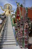 Koh Samui, Tajlandia, Wielka złota Buddha statua, Duży Buddha Obrazy Royalty Free