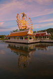 Koh Samui temple on the water - Thailand. Koh Samui  - temple on the water - Thailand Royalty Free Stock Images