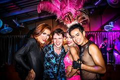 KOH SAMUI, THAILAND 2013, 2 APRIL Transvestites in Royalty Free Stock Image