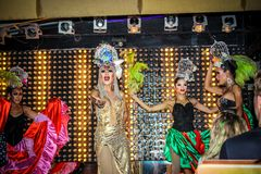 KOH SAMUI, THAILAND 2013, 2 APRIL Transvestites in Royalty Free Stock Photography