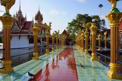 Koh Samui Thailand, buddistisk tempel, Wat Laem Suvannaram Fotografering för Bildbyråer