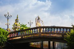 Koh Samui Thailand, Chinese God statue Guanyin at Wat Plaileam t. Emple stock photo