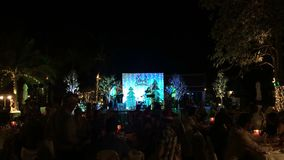 KOH SAMUI, THAILAND, DECEMBER 25, 2016: Christmas party stock video footage