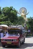 Songthaew share taxi koh samui thailand Royalty Free Stock Photo