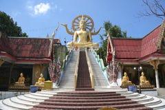 Stor samui thailand för buddha tempelkoh Arkivfoton