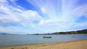Koh Samui. Thailand. 17 july 2014. 4K Time lapse. 4K Time lapse with boats on the beach in Koh Samui Thailand stock video