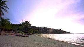 Koh Samui. Thailand. 20 july 2014.Time lapse of stock video