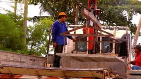 KOH SAMUI, THAILAND - JUNE 21: Crane activity at Royalty Free Stock Photos