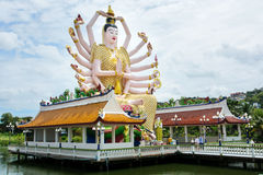 KOH SAMUI, THAILAND - OCTOBER 21, 2016: Wat Plai Laem, Buddhist stock photography