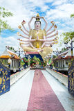 KOH SAMUI, THAILAND - OCTOBER 21, 2016: Wat Plai Laem, Buddhist Stock Images