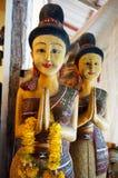 Koh Samui Thailand, statyetter i presentaffären Fotografering för Bildbyråer