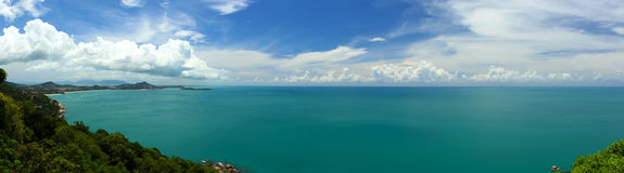 Koh Samui View. A view from the east coast of Koh Samui in the Gulf of Thailand royalty free stock image