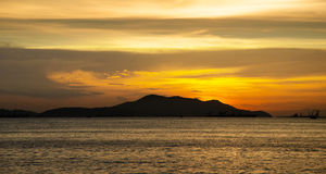 Koh Si Chang Island with sunset sky Royalty Free Stock Photos