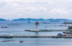 Koh Si Chang Pier Royalty-vrije Stock Foto