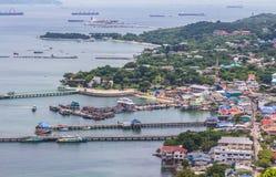 Koh Si Chang Pier royalty-vrije stock foto's