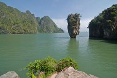 Koh Tabu, or James Bond Island. Stock Image