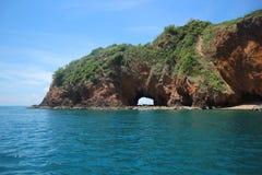Koh Talu with blue sky Island sea landscape Stock Photo
