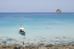 Koh Tao. Rest and swimming at the bay of Ao Leuk in Koh Tao - Thailand Stock Photo