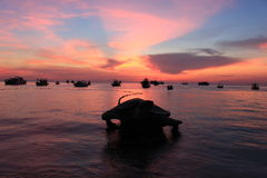 Koh tao. Sunset at koh tao thailand Royalty Free Stock Photos